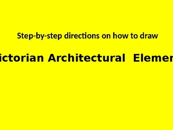Printable Victorian Architecture step by step directions