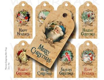 Printable Vintage Christmas Gift Tags