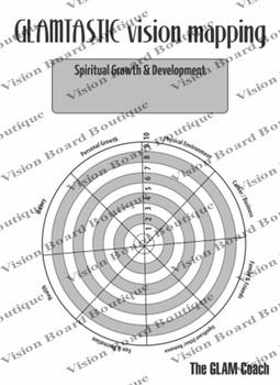 Printable Vision Board   Vision Mapping Worksheet   printable spiritual growth