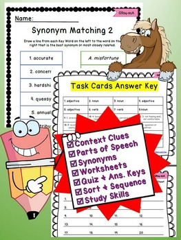 Printable Vocabulary Test Prep Context Clues and Reading Practice Questions