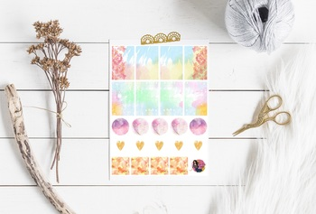Printable Watercolor Stickers