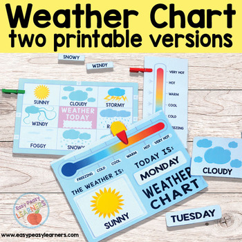 Printable Weather Chart (Two Versions)