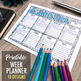 "Printable Week Planner with 10 designs to color | 8.5x11"" Printable PDF"