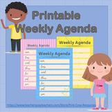 Printable Weekly Agenda