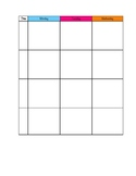 Printable Weekly Lesson Planning