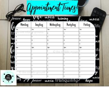 Printable Weekly Calendar Bundle - Teacher Binder or Disc Planner