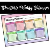 Printable Weekly Planner (Rainbow)
