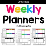 Printable Weekly Planners - Color and B&W