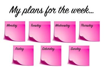Printable Weekly planner