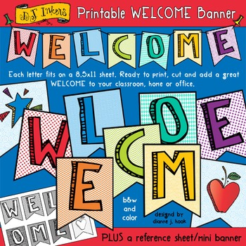 Printable Welcome Banner Download