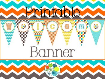 Printable Welcome Banner FREEBIE in Candy Colors Theme