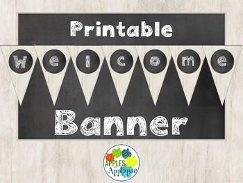Welcome Banner FREEBIE in Chalkboard Theme