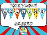Welcome Banner FREEBIE in Comic Book Theme