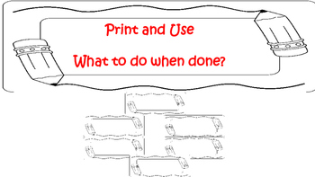 Printable- What to do when done posters