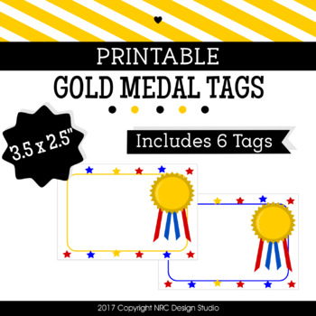 Printable Tags, Winner Medal, Labels, Name Tags - Classroom Decoration