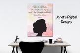 Printable Woman Silhouette Bible Verse Wall Art