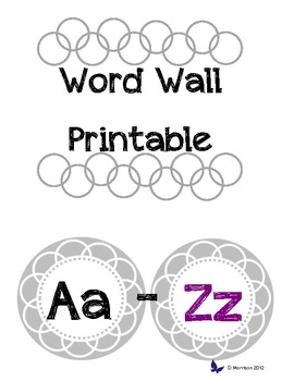 Printable Word Wall Gray