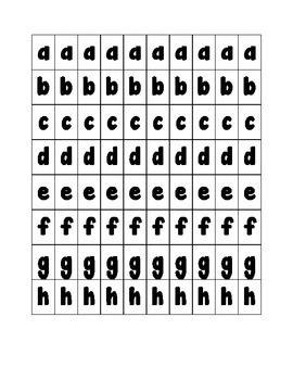 Printable Word Work Letters