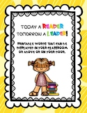 Printable Words ... Today a Reader Tomorrow a Leader