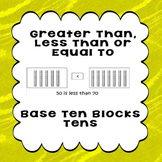 Printable Worksheets Greater Than Less Than or Equal to Base 10 Blocks 10s
