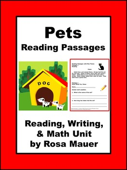 Reading Passages with Pets Theme