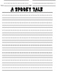 Printable Writing Center Promt - A Spooky Tale Story Starter File Folder Game