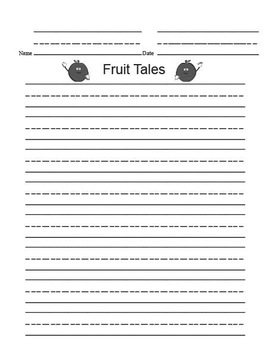 Printable Writing Center - Fruit Tales Story Starter File Folder Game Gray