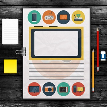 WRITING PAPER: Devices Theme - 10 Styles