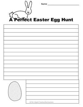 Printable Writing Paper: Easter & Spring