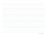 Printable Writing Paper Grades PreK-1 (Manuscript 1 Inch) Blue