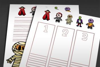 PRINTABLE WRITING PAPER: Halloween Theme - 20 Styles