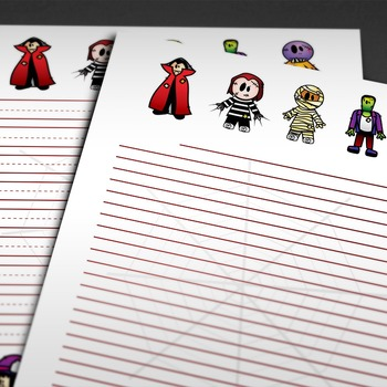 PRINTABLE WRITING PAPER: Halloween Theme - 20 Styles