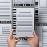 Writing Paper: Piano Music Theme - 19 Styles