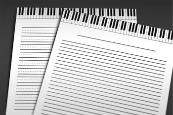 Writing Paper: Piano Music Theme - 19 Styles
