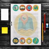 Printable Writing Paper: Maps Theme (10 Styles)