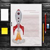 Writing Paper: Rocket Theme (10 Styles)