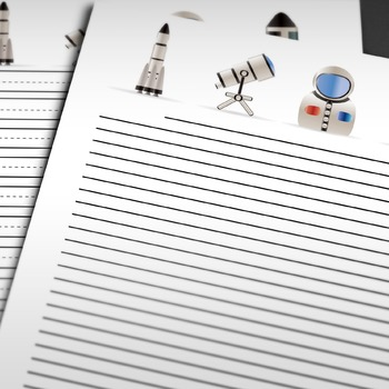 WRITING PAPER: Space Theme (15 Styles)