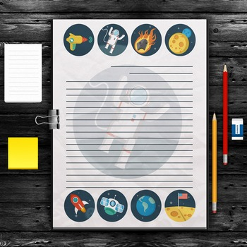 WRITING PAPER: Space Theme (10 Styles)