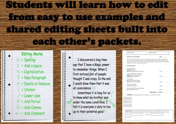 Printable Writing Prompt Packets - Running Writing Class - Easy Rubrics