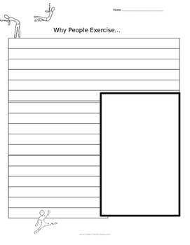 Printable Writing Prompt Sheets: Health and Exercise (4)