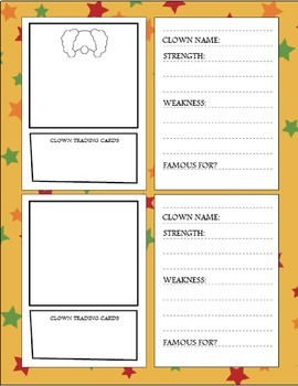 Circus Creativity Workbook - Creative Writing Worksheets and Activities