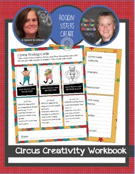 Printable Writing Prompts and Activities - Circus Creativity Workbook