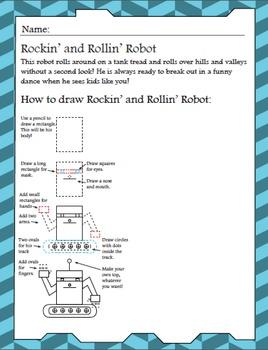 Creative Writing Prompts and Activities - Robot Creativity Workbook