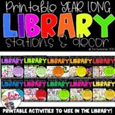 Printable Year Long Library Stations & Decor