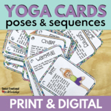 Printable Yoga Cards with Yoga Poses for Kids with Digital Slides