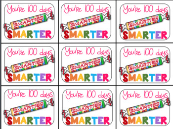 This is a picture of Geeky 100 Days Smarter Printable