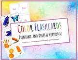 Large Printable and Digital - Color Flashcards-Gogokid-K1 Levels