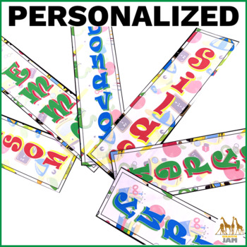Editable and Personalized Bookmarks for Students for August with Jokes
