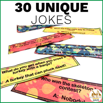 Editable and Personalized Bookmarks for Students for November with Jokes