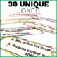 Editable and Personalized Bookmarks for Students for September with Jokes